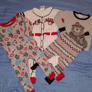 Other - 3 Pairs Boys Pajamas 24 Mo